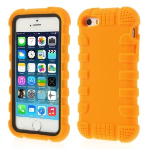 Anti-slip Soft Silicone Shell Cover for iPhone 5s 5 - Orange
