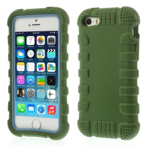 Anti-slip Soft Silicone Case Cover for iPhone 5s 5 - Green