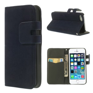 Dark Blue for iPhone 5s 5 Magnetic Soft PU Leather Wallet Cover Stand
