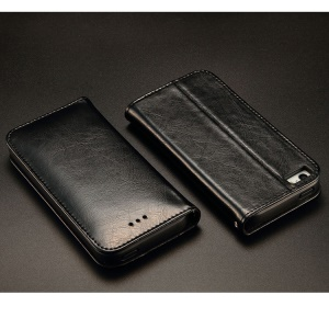 KLD Royale Series for iPhone 5 5s Leather Stand Case with Card Slot - Black