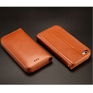 KLD Royale Series for iPhone 5 5s Leather Stand Cover with Card Slot - Brown