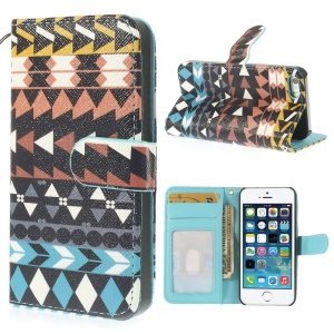 Stylish Tribal Pattern Magnetic Wallet Leather Case for iPhone 5 5s