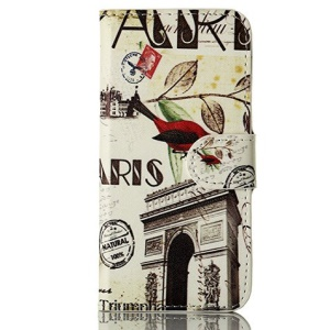 For iPhone 5 5s Triumphal Arch & Bird Wallet Leather Flip Case w/ Stand