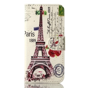 For iPhone 5 5s Paris 1889 Eiffel Tower Magnetic Wallet Leather Cover w/ Stand