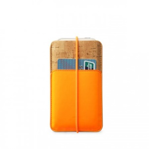 Zenus E-Cork Leather Pouch Case for iPhone 5s 5 5c 4s 4, Size: 13 x 7.8cm - Orange