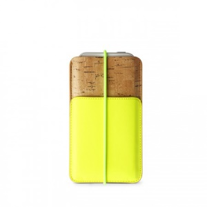 Zenus E-Cork Leather Pouch Sleeve for iPhone 5s 5 5c 4s 4, Size: 13 x 7.8cm - Green