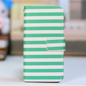 Green Stripes / White