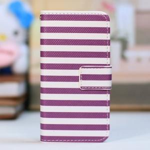 Purple Stripes / White