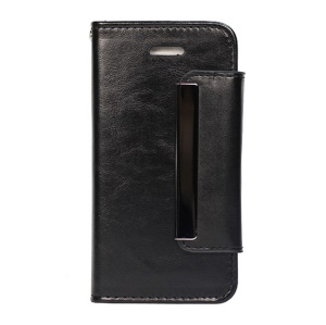 Crazy Horse Texture 2 in 1 Leather Case for iPhone 5s 5 - Black