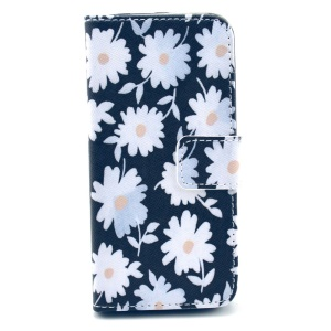 Durable Wallet Leather Stand Cover Case for iPhone 5s 5 - Bloomy Pretty Daisy
