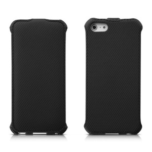 Banpa Fashion Wheat Texture Leather Vertical Flip Case for iPhone 5s 5 - Black