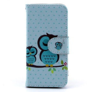 Sleeping Owl on the Branch Wallet Leather Stand Case for iPhone 5s 5