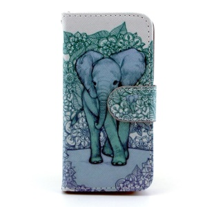 Giant Elephant Wallet Leather Stand Cover for iPhone 5s 5