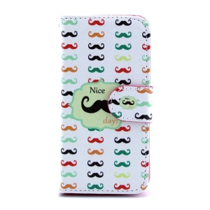 Colorful Mustache Magnetic Leather Stand Case for iPhone 5s 5