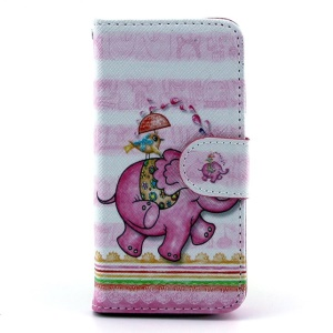 Pink Elephant Magnetic Leather Stand Cover for iPhone 5s 5