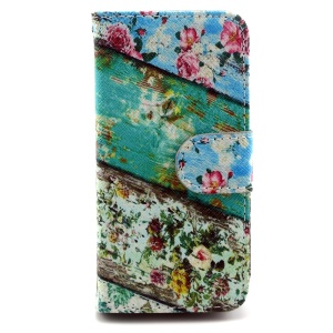 Blooming Flowers PU Leather Stand Case for iPhone 5s 5