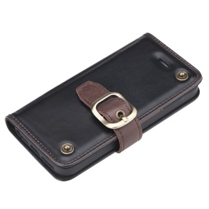 Black ROCK Wander Series Genuine Leather Case for iPhone 5 5s