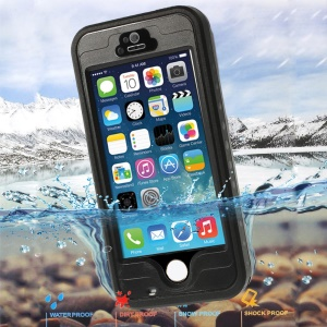 Black Redpepper Protective Waterproof Case for iPhone 5 5s, Support Fingerprint Identification Function