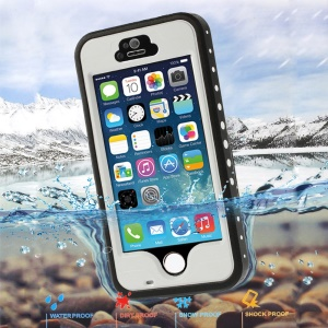 White Redpepper Protective Waterproof Cover for iPhone 5 5s, Support Fingerprint Identification Function