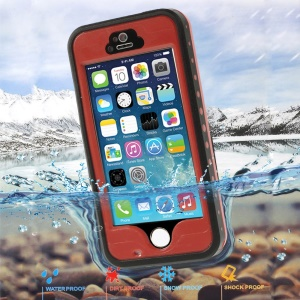 Red Redpepper Waterproof Protection Case for iPhone 5 5s, Support Fingerprint Identification Function
