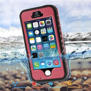 Rose Redpepper Protective Waterproof Shell for iPhone 5 5s, Support Fingerprint Identification Function