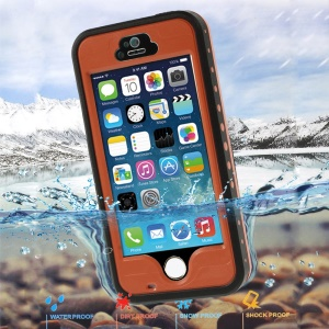 Orange Redpepper Protective Waterproof Case for iPhone 5 5s, Support Fingerprint Identification Function