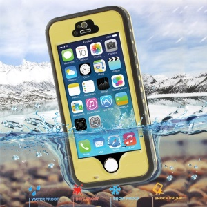 Yellow for iPhone 5 5s Redpepper Durable Waterproof Case, Support Fingerprint Identification Function