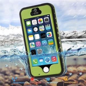 Green for iPhone 5 5s Redpepper Waterproof Cover Case, Support Fingerprint Identification Function