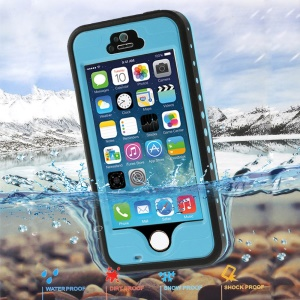 Blue Redpepper Waterproof Case Accessory for iPhone 5 5s, Support Fingerprint Identification Function