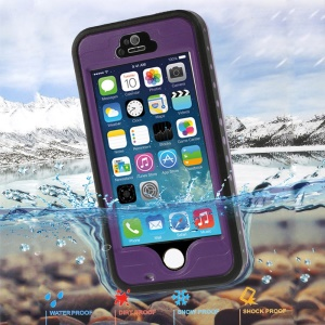 Purple Redpepper Waterproof Protector Case for iPhone 5 5s, Support Fingerprint Identification Function