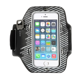 LED Flashing Sports Gym Armband Cover for iPhone 5s 5c 5 - White