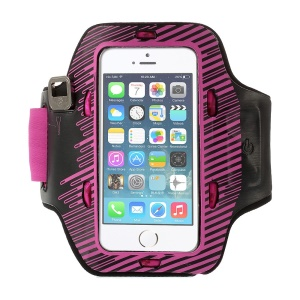 Sports Gym Armband Pouch w/ Colored Flashing LEDs for iPhone 5s 5c 5 - Rose