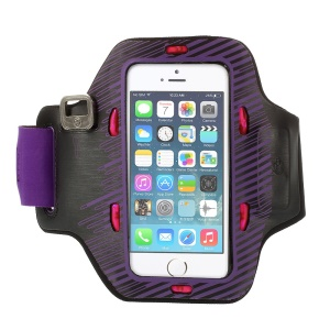 Colored LED Flashing Sports Gym Armband Case for iPhone 5s 5c 5 - Purple