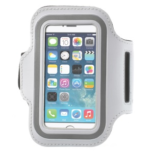 Running Jogging Sports Gym Armband Case for iPhone 5 5s - White