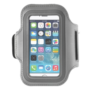 Running Jogging Sports Gym Armband Pouch Case for iPhone 5 5s - Grey