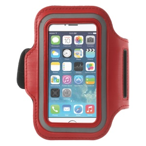 Running Jogging Sports Gym Armband Pouch Case for iPhone 5 5s - Red