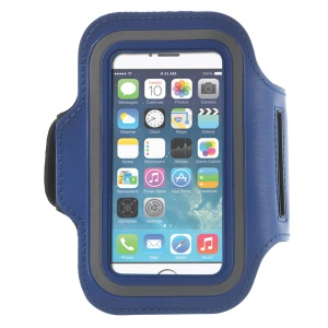 Running Jogging Sports Gym Armband Pouch Case for iPhone 5 5s - Blue