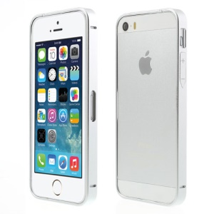 Silver for iPhone 5s 5 Slim Aluminum Metal Bumper with Power & Volume Buttons