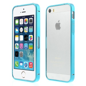 Blue for iPhone 5s 5 Slim Aluminum Metal Bumper Case w/ Power & Volume Buttons