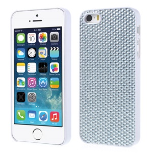 Bling Bling Gel Crystal Hard PC Case for iPhone 5s 5 - Silver