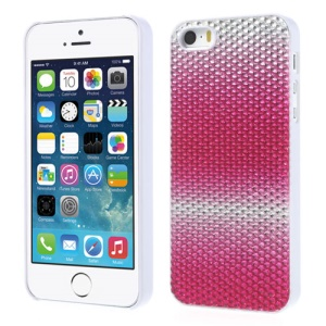 Bling Bling Gel Crystal Protective Hard Cover for iPhone 5s 5 - Silver / Rose