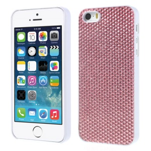 Sparkling Gel Crystal Protective Hard Cover for iPhone 5s 5 - Pink