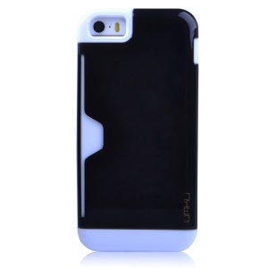 Black UMKU for iPhone 5s 5 2 in 1 Card Storage TPU & Plastic Combo Case