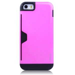 Rose UMKU for iPhone 5s 5 2 in 1 Card Storage TPU & Plastic Combo Cover