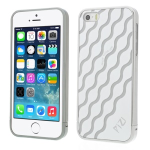 White PIZU Water Wave Pattern 3 in 1 Plastic Hard Case for iPhone 5s 5