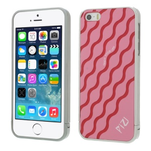 Red for iPhone 5s 5 PIZU Water Wave Pattern 3 in 1 Protective Hard Cover