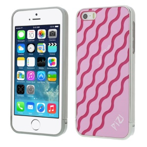 Pink for iPhone 5s 5 PIZU Water Wave Pattern 3 in 1 PC Phone Back Shell