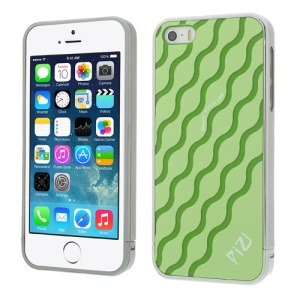 Green PIZU for iPhone 5s 5 Water Wave Pattern 3 in 1 Plastic Phone Cover