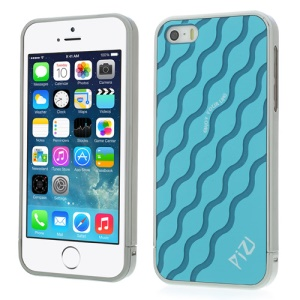 Blue PIZU for iPhone 5s 5 Water Wave Pattern 3 in 1 Hard Protector Case