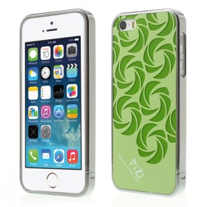 Green for iPhone 5s 5 PIZU Windmill Pattern Plastic Back Case w/ Detachable Bumper